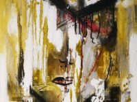 Abstract oil painting of a lady's face