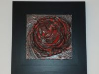 wall art titled Lava-AH made with ceramic and lava 20cm x 20cm